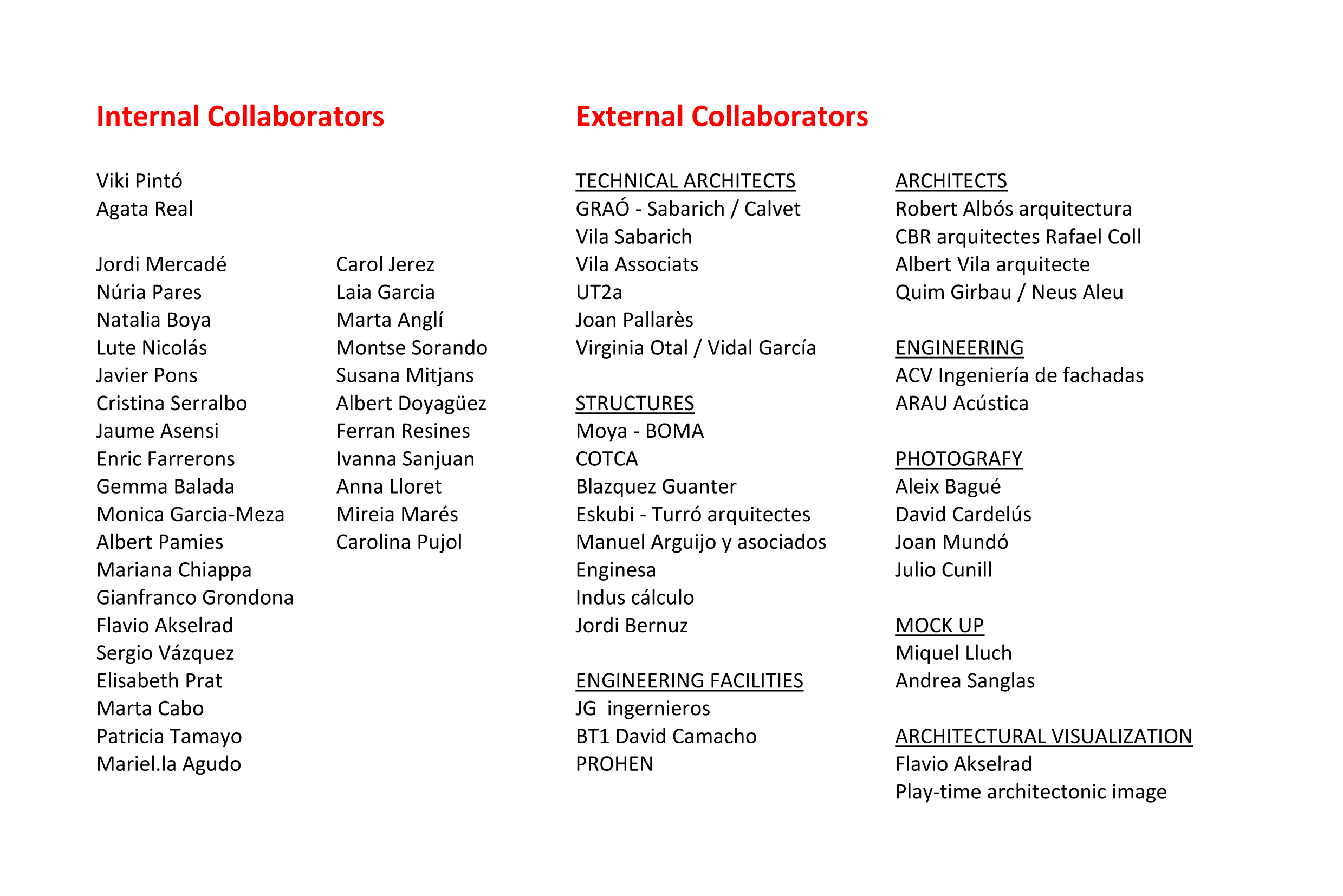 TEAM OF COLLABORATORSx